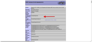 php.ini file location