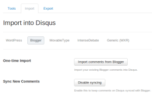 import blogger comments