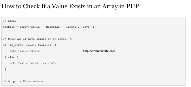 How to Check If a Value Exists in an Array in PHP
