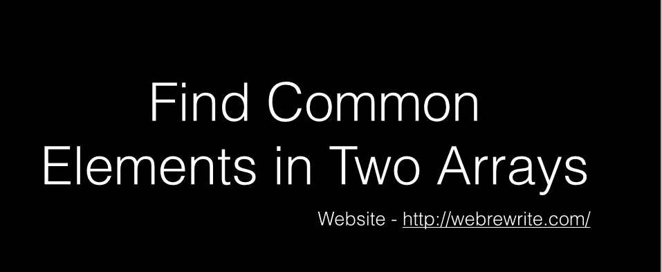 Find Common Elements in Two Arrays