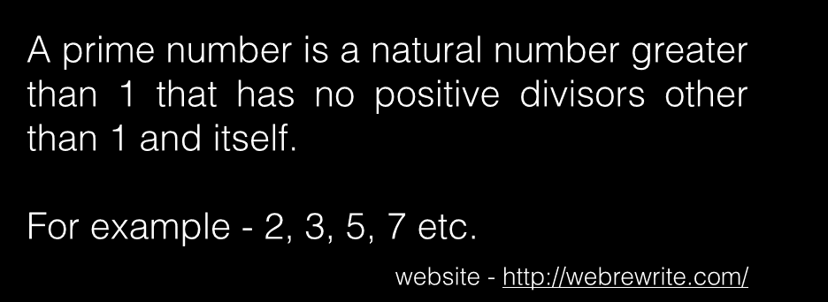 Check whether a number is prime or not