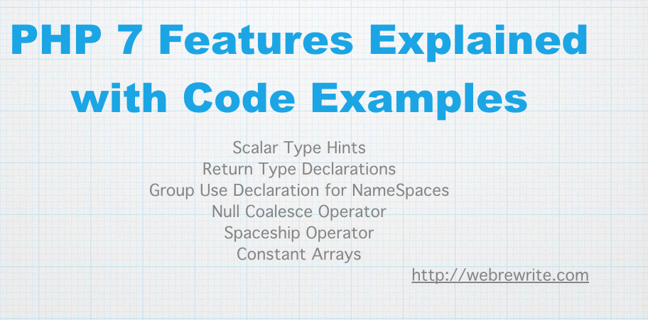 PHP 7 Features Explained with Code Examples
