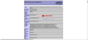php.ini file location