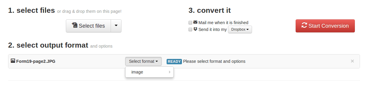 Easy file conversion