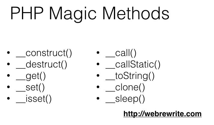 PHP Magic Methods