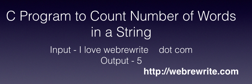 C Program to Count Number of Words in a String
