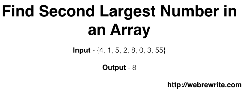 Find the Second Largest Number in an array